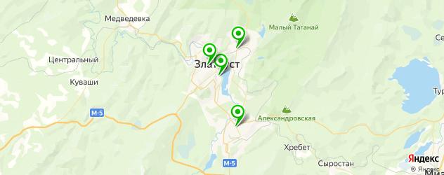 бассейны на карте Златоуста