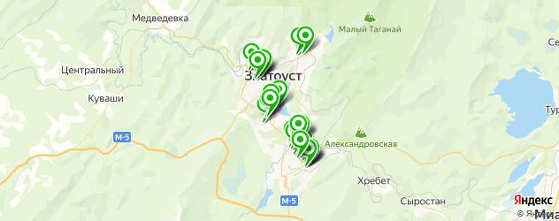 автостоянки на карте Златоуста