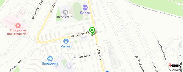 бильярдные клубы на карте Первоуральска
