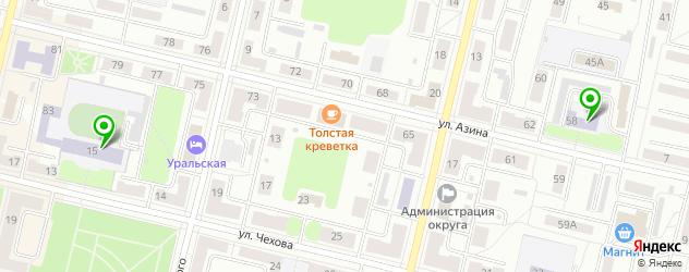 гимназии на карте Ревды