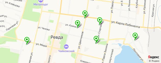 Доставка пиццы на карте Ревды