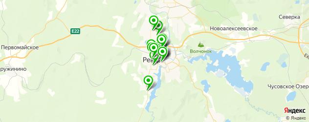 автосервисы на карте Ревды