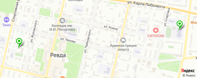 спортивные школы на карте Ревды