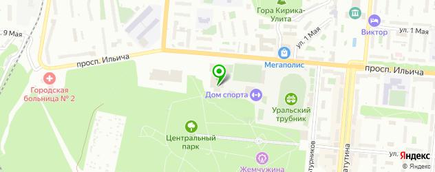 ледовые дворцы на карте Первоуральска