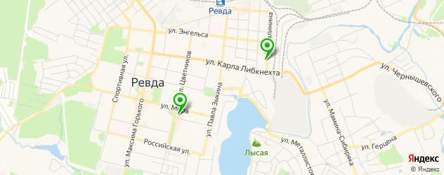 боулинги на карте Ревды