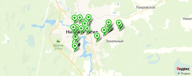 студии автозвука на карте Нижнего Тагила