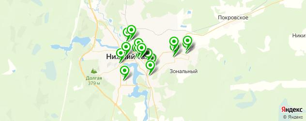 эвакуаторы на карте Нижнего Тагила