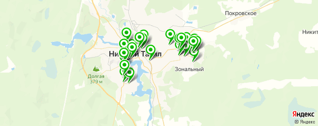 автомойки на карте Нижнего Тагила