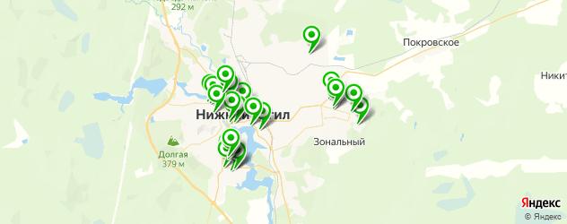 фитнес-клубы на карте Нижнего Тагила