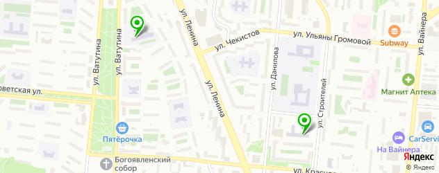 лицеи на карте Первоуральска