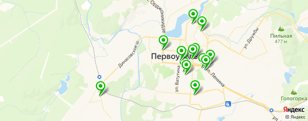 Доставка роллов на карте Первоуральска