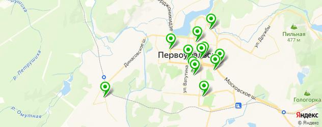 пиццерии на карте Первоуральска