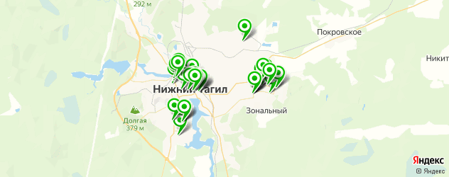 меховые ателье на карте Нижнего Тагила