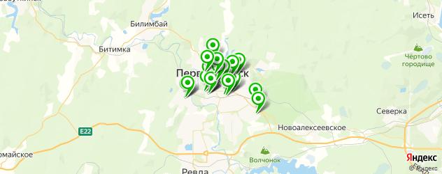 Развлечения на карте Первоуральска