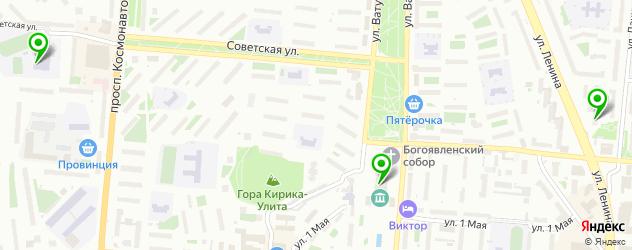 спортивные клубы на карте Первоуральска