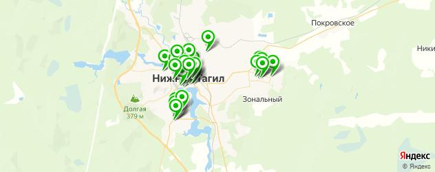 пиццерии на карте Нижнего Тагила