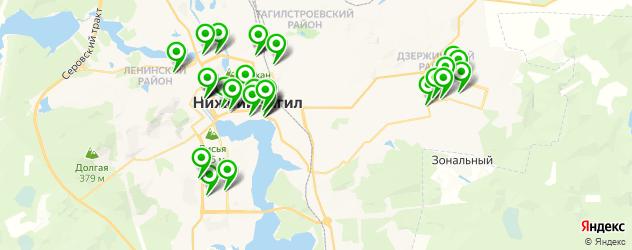 рестораны на карте Нижнего Тагила