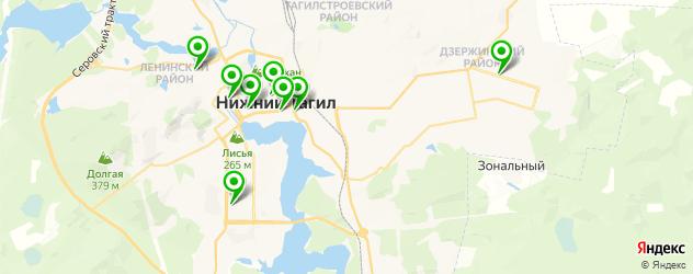 рестораны с детской комнатой на карте Нижнего Тагила