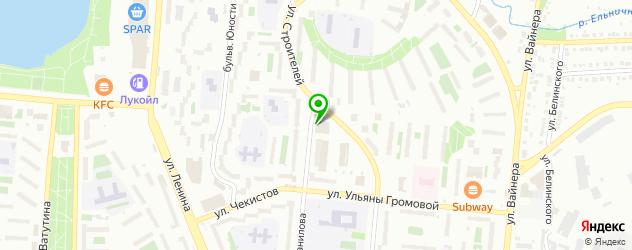 ночные клубы на карте Первоуральска