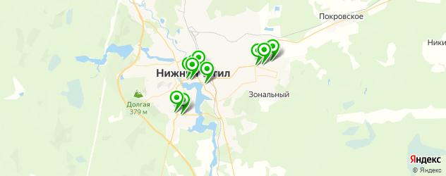 вегетарианские кафе на карте Нижнего Тагила