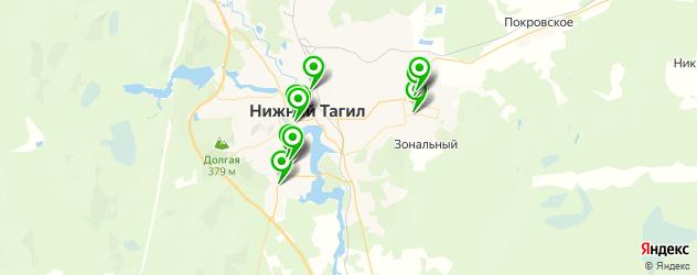 бары с танцполом на карте Нижнего Тагила