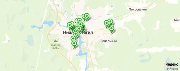 кафе с живой музыкой на карте Нижнего Тагила