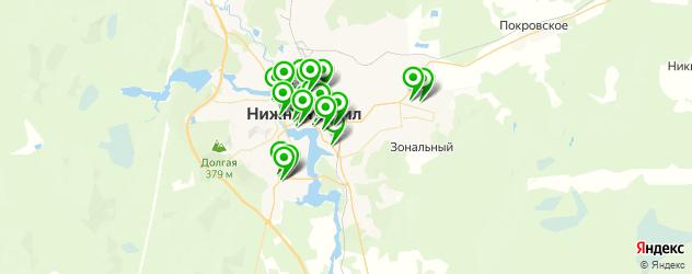 кафе на карте Нижнего Тагила