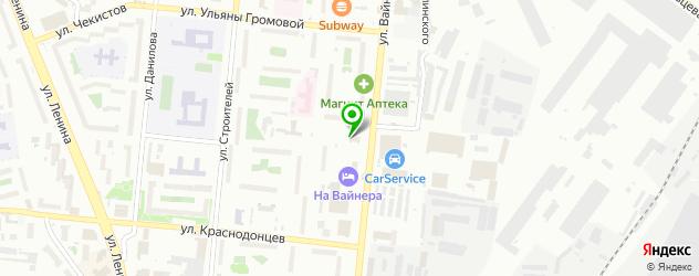 кальянные на карте Первоуральска