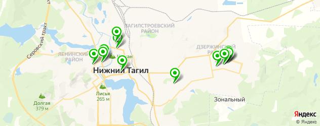 детские больницы на карте Нижнего Тагила