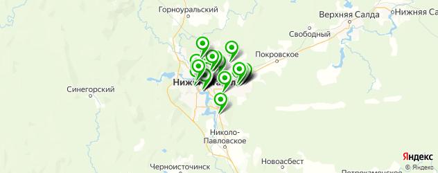 больницы на карте Нижнего Тагила