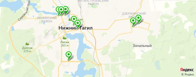 детские стоматологические поликлиники на карте Нижнего Тагила