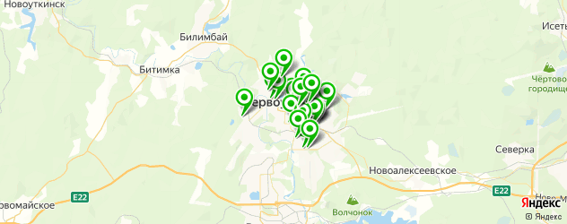 автосервисы на карте Первоуральска