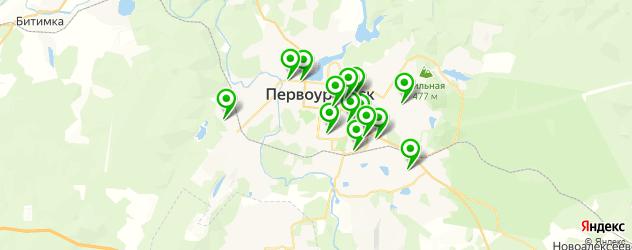 автомойки на карте Первоуральска