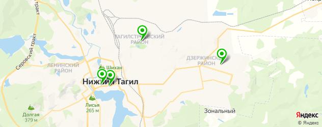 театры на карте Нижнего Тагила
