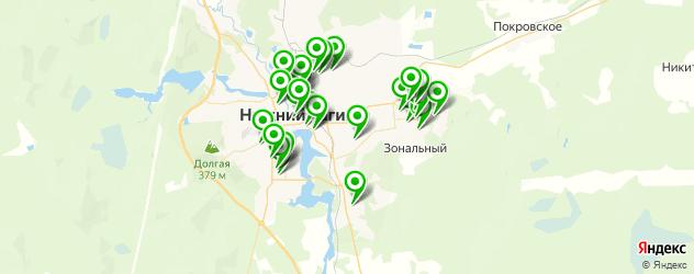 школы на карте Нижнего Тагила