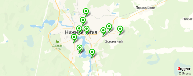 караоке на карте Нижнего Тагила