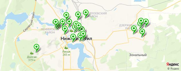 спортивные школы на карте Нижнего Тагила