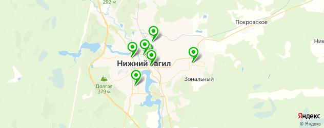 поликлиники на карте Нижнего Тагила