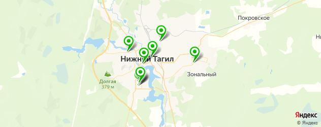 бассейны на карте Нижнего Тагила