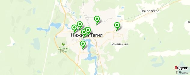 культурные центры на карте Нижнего Тагила