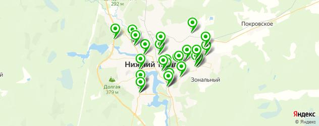 АЗСЫ на карте Нижнего Тагила