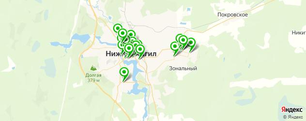 компьютерные помощи на карте Нижнего Тагила