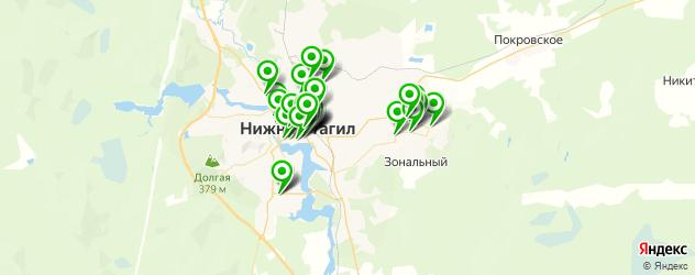 сервисные центры на карте Нижнего Тагила