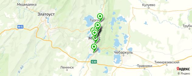 столовые на карте Миасса