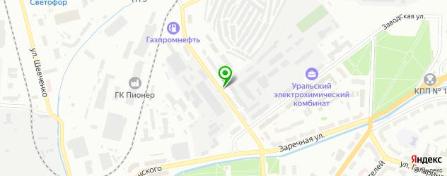 Авто на карте Новоуральска