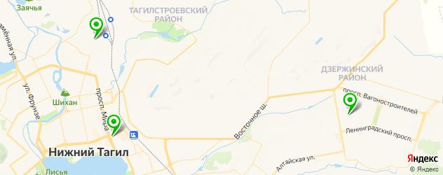 школа профессионального вождения на карте Нижнего Тагила