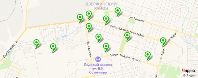 автошколы на карте Дзержинского района
