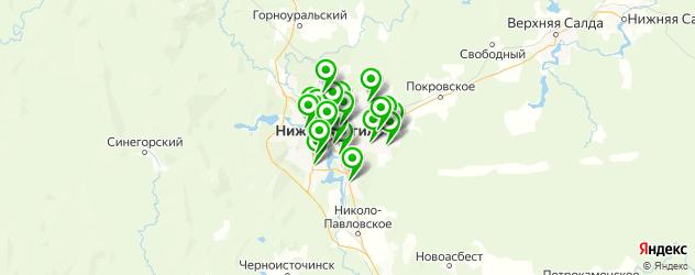 отделения Почты России на карте Нижнего Тагила