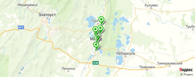 детские больницы на карте Миасса