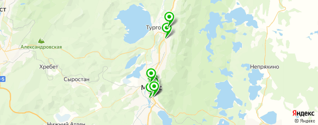 автошколы на карте Миасса